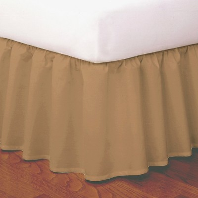 Magic Skirt Wrap-around Ruffled Bed Skirt - Mocha (Queen)