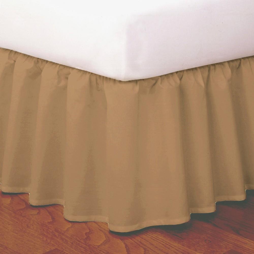 Image of Magic Skirt Wrap-around Ruffled Bed Skirt - Mocha (Brown) (Full)