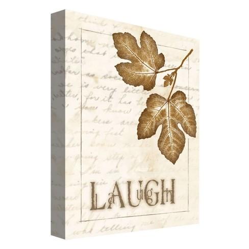 "Laugh Decorative Canvas Wall Art 11""x14"" - PTM Images - image 1 of 1"