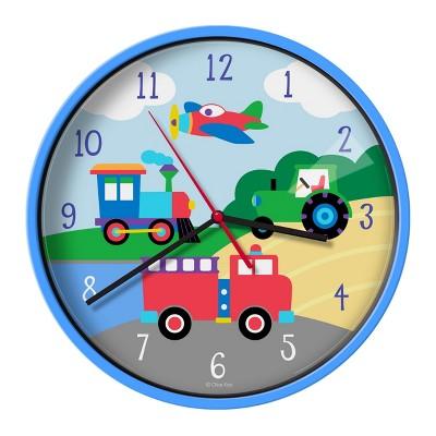 Wildkin Trains, Planes & Trucks Wall Clock