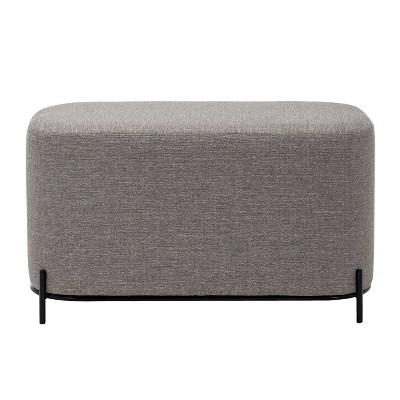 "32"" Modern Decorative Bench with Metal Base Gray - WOVENBYRD"