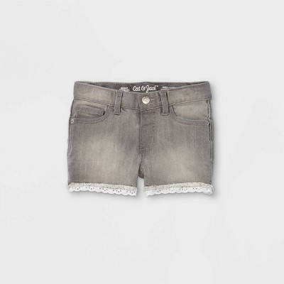 Toddler Girls' Lace Jean Shorts - Cat & Jack™ Gray