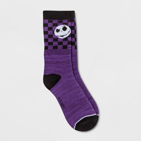 womens disney the nightmare before christmas crew socks purple one size