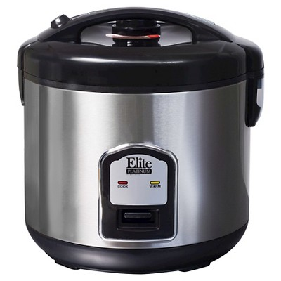 Elite Platinum Stainless Steel 20-Cup Rice Cooker