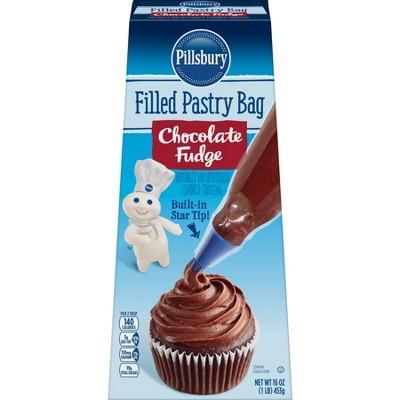 Pillsbury Chocolate Fudge Filled Pastry Bag - 16oz