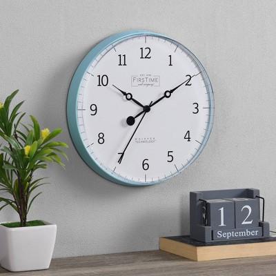 """10"""" Aubrey Wall Clock Teal - FirsTime"""