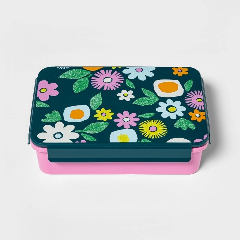 Bento Box with Non-Removable Divider Floral Decal - Cat & Jack™ - image 1 of 3