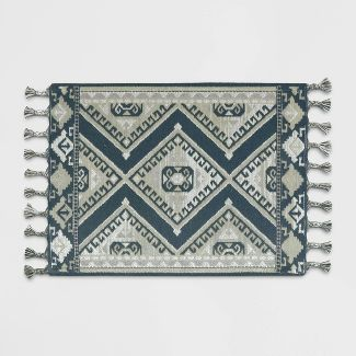 2'X3' Diamond Woven Accent Rug Navy - Threshold™
