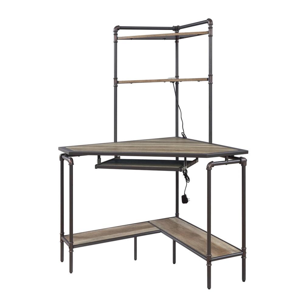 Deliz Desk Sand Gray - Acme Furniture Deliz Desk Sand Gray - Acme Furniture