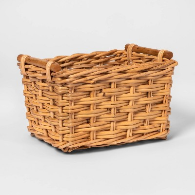 Woven Basket with Rattan Handles - Threshold™
