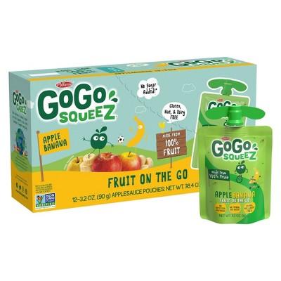 GoGo squeeZ Applesauce, Apple Banana - 3.2oz/12ct
