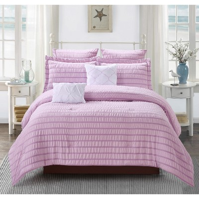 Lily NY Seersucker 7Pc Comforter Sets