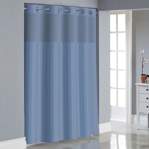 Hookless Victorian Satin Stripe Shower Curtain With Liner White Target