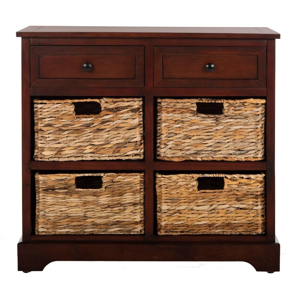 Storage Cabinet Brown - Safavieh, Red