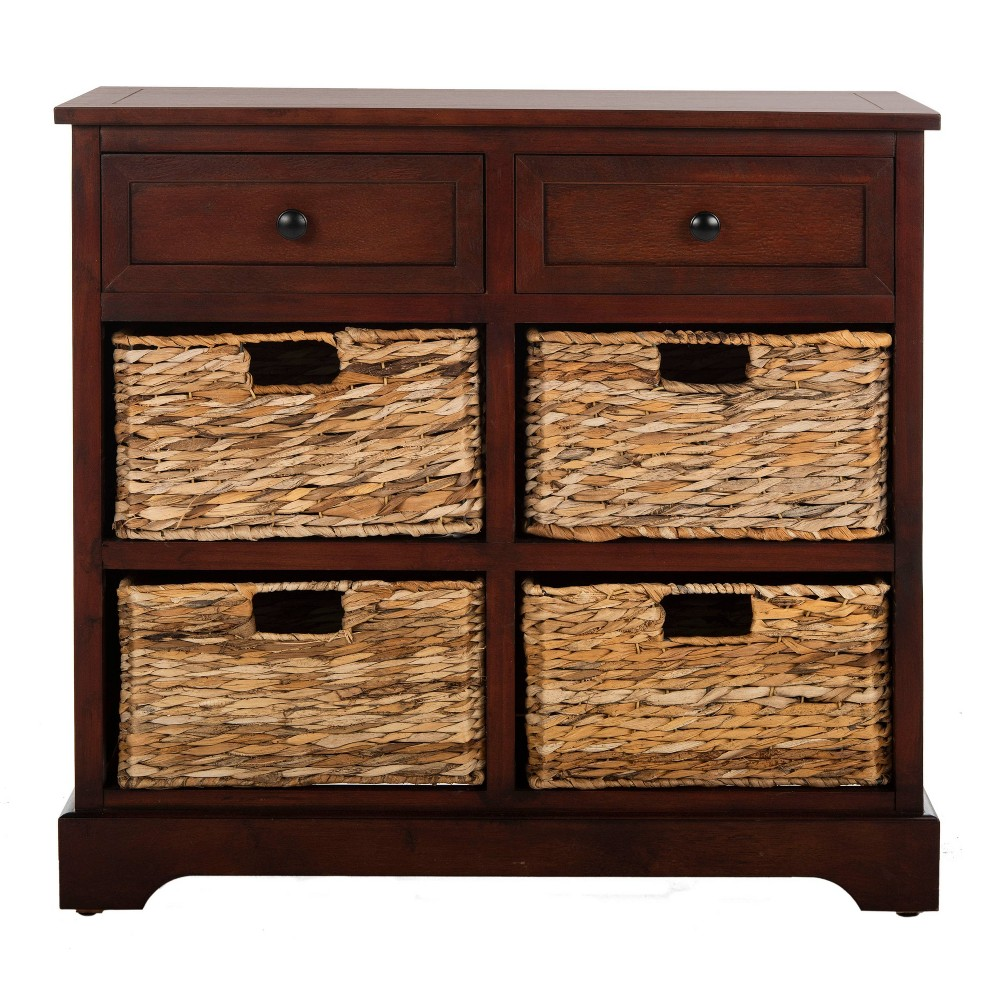 Check price Storage Cabinet Brown - Safavieh