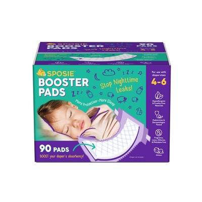 Sposie Booster Pads For Overnight Diaper Leak Protection - 90ct