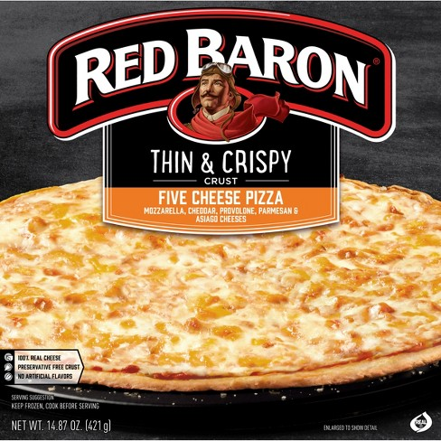 Red Baron Fire Baked Thin Crust 5-Cheese Frozen Pizza - 14.76oz - image 1 of 3