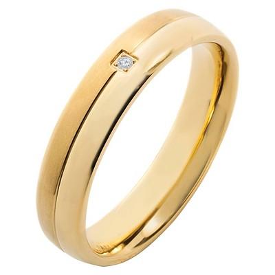 Men's Crucible 0.02 CT. T.W. Round-Cut Diamond Stud Bezel Set Ring in Titanium (H-I-SI2)