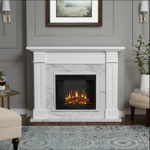 Real Flame Kipling Indoor Electric Fireplace White Marble Target