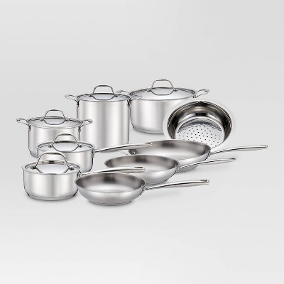 14pc Stainless Steel Cookware Set - Threshold™