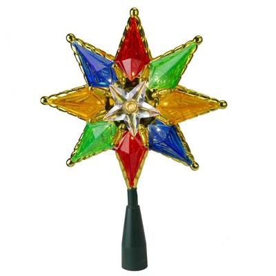 """Kurt S. Adler 32"""" Multi-Color Lighted Star Christmas Tree Topper - Clear Lights"""