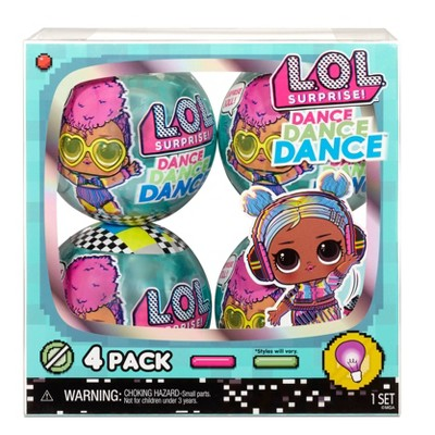 L.O.L. Surprise! Dance Dance Dance Dolls 4pk
