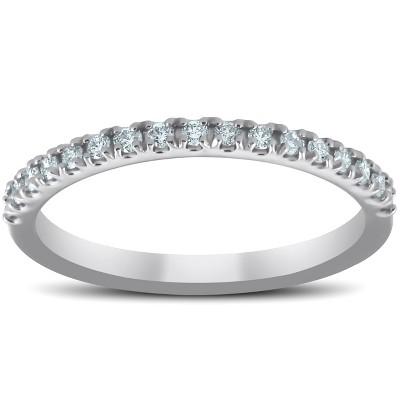 Pompeii3 Diamond Wedding Ring Band 1/3 Carats Womens Platinum Classic Traditional