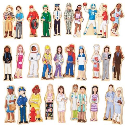 Guidecraft Wooden Wedgie Career People   - Set of 30 - image 1 of 4