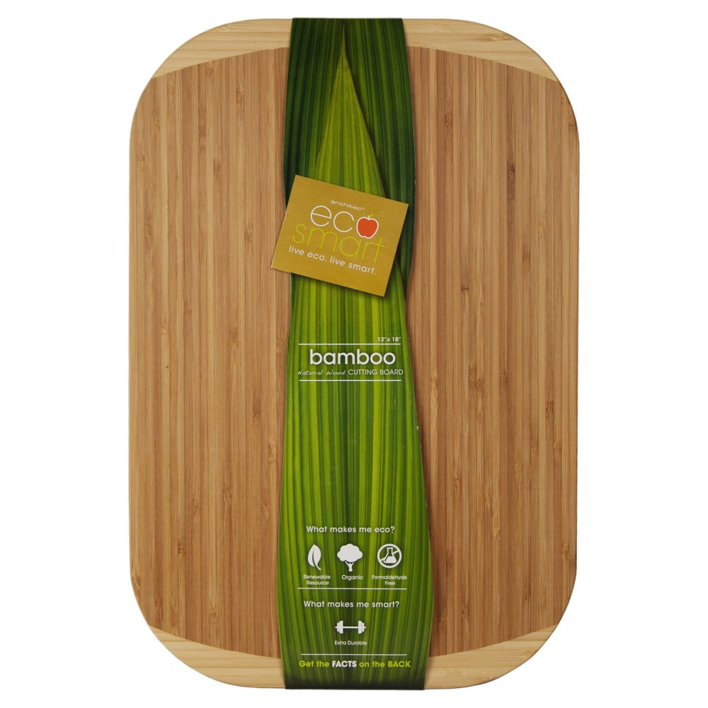"Image of ""Architec 12""""x18"""" Natural Bamboo Everyday Cutting Board, Brown"""