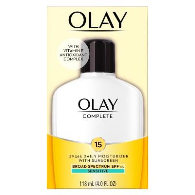 Facial Moisturizer: Olay Complete Daily Moisturizer Sensitive Skin