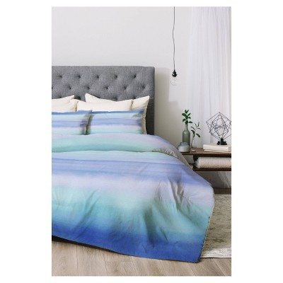 Blue Amy Sia Ombre Watercolor Comforter Set (Twin XL) 2pc - Deny Designs