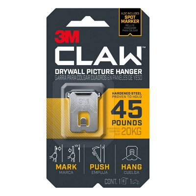 3M 45lb CLAW Drywall Picture Hanger with Spot Marker