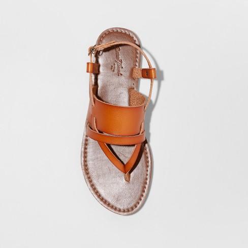 aae18edb741fdc Women s Sonora Toe Thong Sandals - Universal Thread™ Cognac   Target