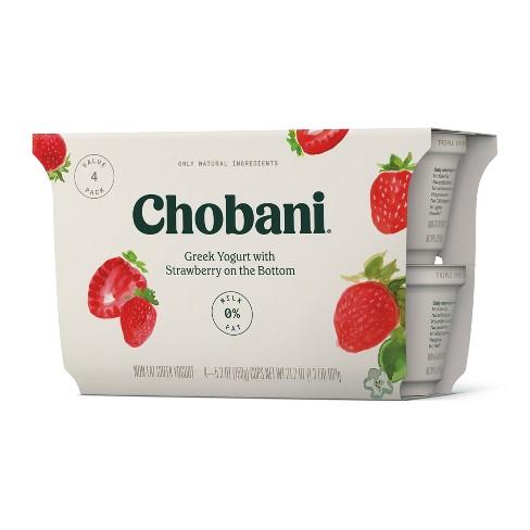 Chobani Strawberry on the Bottom Nonfat Greek Yogurt - 5.3oz/4pk - image 1 of 1