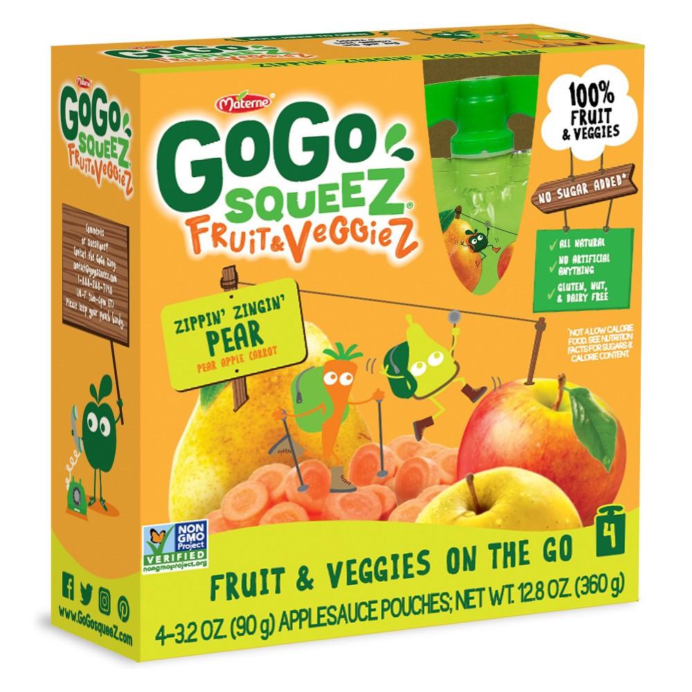 Gogo Squeez Fruit & Veggies On The Go Zippin' Zingin' Pea...
