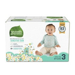 Seventh Generation Free & Clear Diapers Size 3 - 93ct