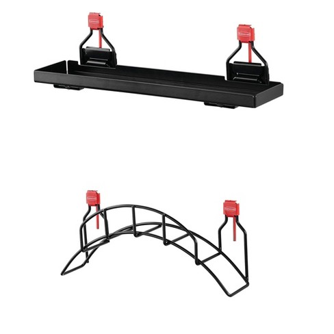 Rubbermaid Metal Shed Shelf & Space Saving Mounted Garden Hose Holder - image 1 of 4
