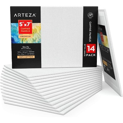 "Arteza Canvas Panels, Premium, 5"" x 7"" - 14 Pack"