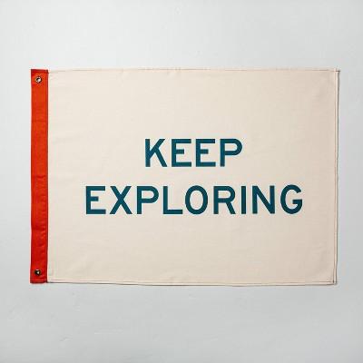 'Keep Exploring' Canvas Décor Flag - Hearth & Hand™ with Magnolia