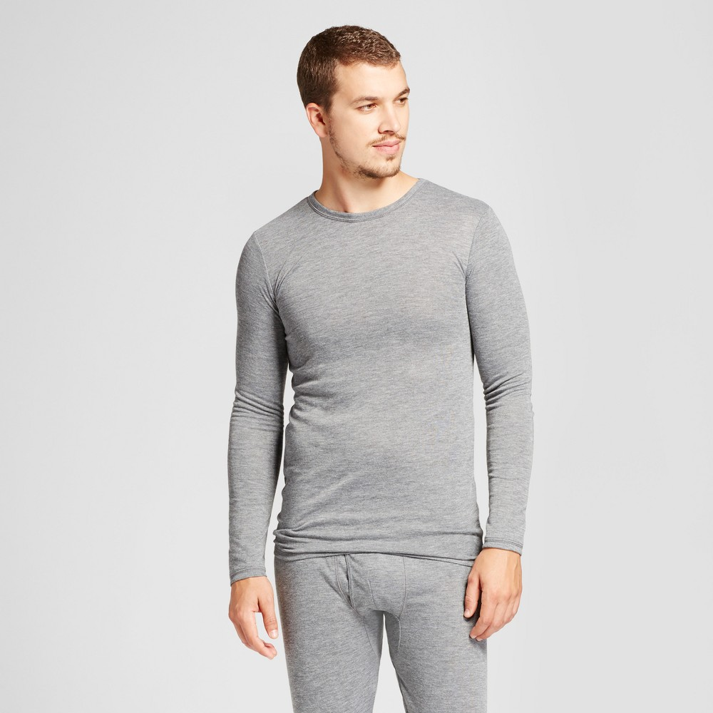 Men's Wool Blend Long Sleeve Thermal Shirt - Goodfellow & Co Heather Gray Xxl