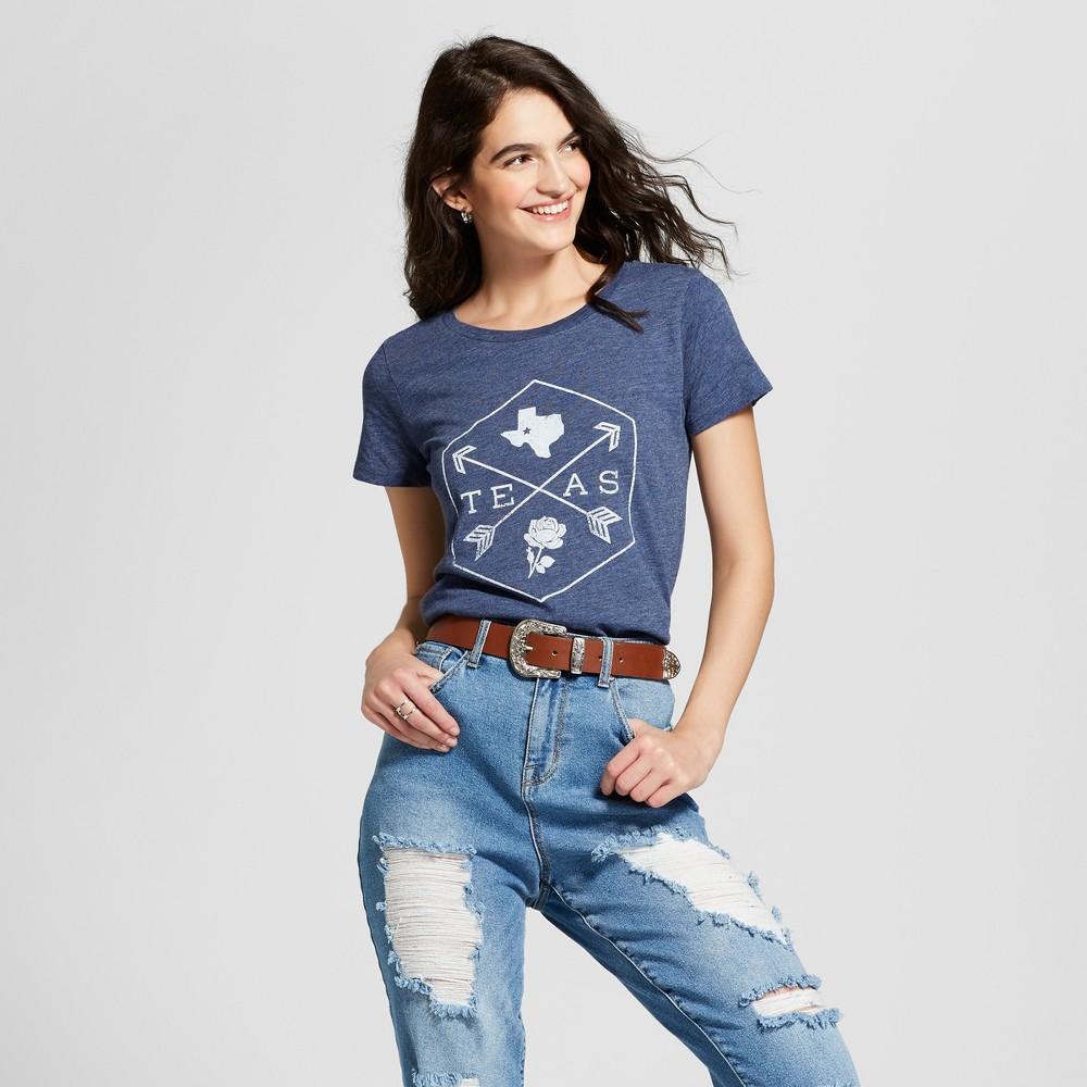 Women's Short Sleeve Texas Four Corners T-Shirt - Awake Navy XS, Blue