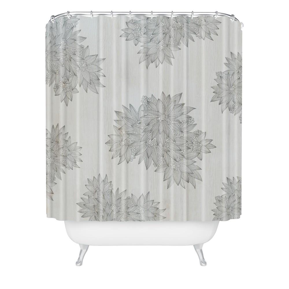 Iveta Abolina Beach Day Gray Shower Curtain Gray - Deny Designs