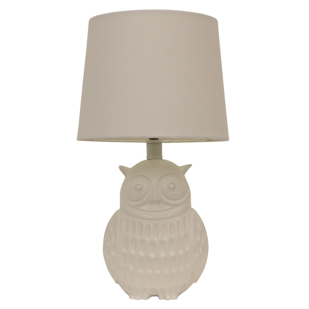 Owl Table Lamp White - Decor Therapy