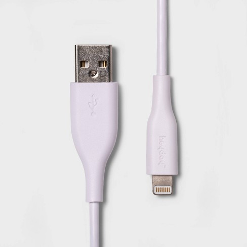 heyday™ 3' Lightning to USB-A Round Cable - White - image 1 of 3