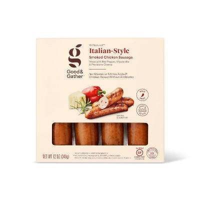 Italian Chicken Sausage with Red Pepper, Mozzarella & Provolone Cheese - 12oz - Good & Gather™