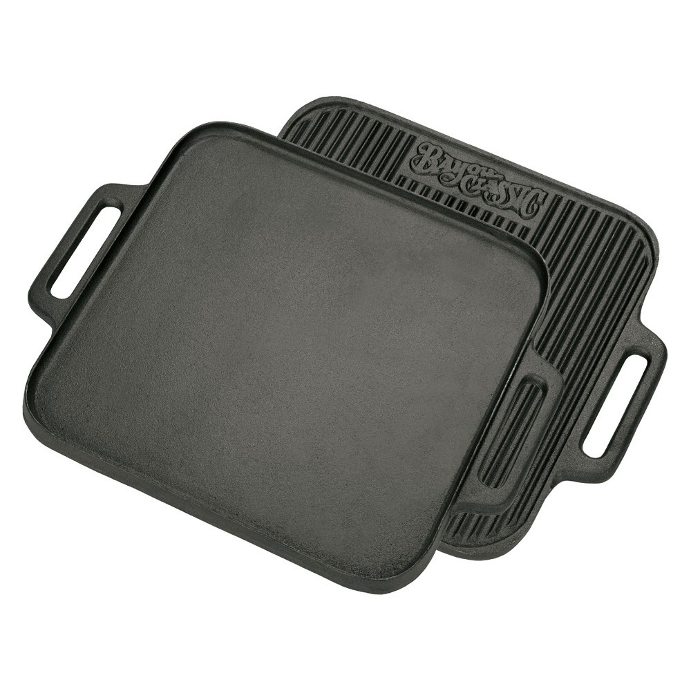 Image of Bayou Classic Cast Iron 14in Reversible Square Griddle