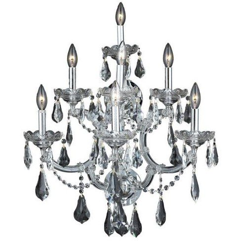 Elegant Lighting 2801W7C Maria Theresa 7-Light Crystal Wall Sconce, Finished in Chrome - image 1 of 1