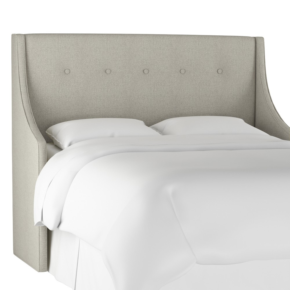 Button Tufted Wingback Headboard King Aiden Platinum - Threshold