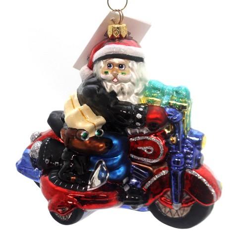 Christopher Radko Sidecar Harley Santa Ornament Harley Christmas Dog - image 1 of 3