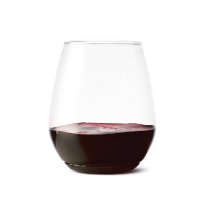 18oz Tumbler Plastic Wine Glasses Set of 48 Clear - TOSSWARE